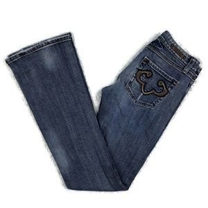 REROCK FOR EXPRESS Bootcut Distressed Jeans 2